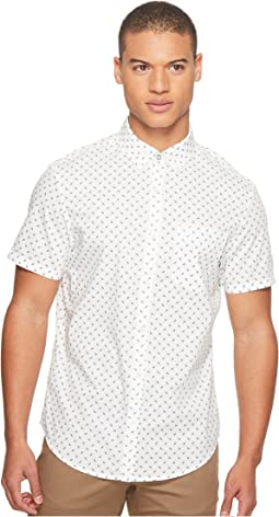 Original Penguin - Short Sleeve Leaf Print on Stretch Poplin Shirt