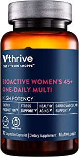 Bioactive Multivitamin for Women 45+ Once Daily Supports Stress, Healthy Aging (30 Vegetarian Capsules)