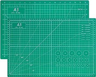 Tapis de Découpe A3 - 5 Couches PVC Auto-cicatrisant Plaque de Découpe, Planche à Découper Double Face Craft Mat, Parfait ...