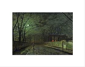 JOHN ATKINSON GRIMSHAW MOONLIT STREET OLD MASTER ART PRINT MOUNT B12X659