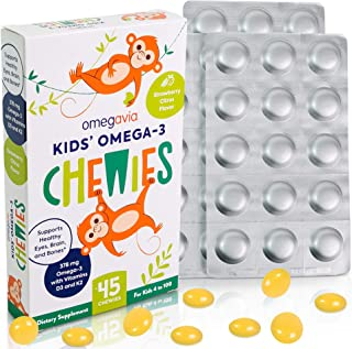 Omega-3 Fish Oil Gummies - with Vitamins D3 and K2 - Ultra-High DHA Chewable Gummy Supports Brain, Eyes and Bones - Sugar-...