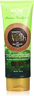 WOW Amazon Rainforest Collection - Mineral Face Wash with Red Volcanic Clay - No Parabens, Sulphate, Silicones and Color, ...