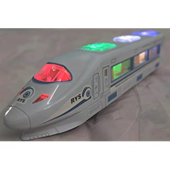 UNIVERAL HIGH Speed Metro Express Bullet Train EMU with Flash Light & Music Gift Toy for Kids