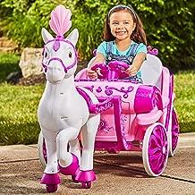 MMOYT Disney Princess Royal Horse Carriage Girls 6V Ride-On Toy Huffy