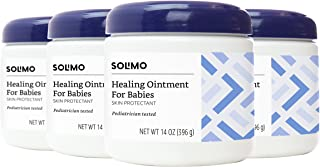 Amazon Brand - Solimo Healing Ointment for Babies, Pediatrician Tested, 14 Ounce (Pack of 4)