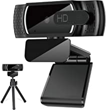 imluckies 1080P Hd Webcam with Microphone, USB Desktop Webcam for Computer/PC Laptop, Auto Focus, Plug and Play, for Windo...