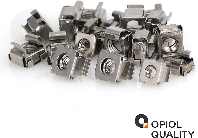 OPIOL QUALITY Lot de 10 /écrous cage M6 pour t/ôle d/épaisseur 1,7-2,7 mm en acier inoxydable A2 /Écrou /à cage carr/ée.