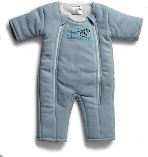 Baby Merlin S Magic Sleepsuit Swaddle Transition Product Microfleece Blue 3 6 Months