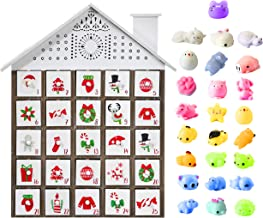 M MINGLE Wooden Christmas Advent Calendar for Kids with Drawers, 25 Toys Fillers, Unique Wood Christmas Countdown Advent Calendar with Drawers for Boys, Girls, Teens