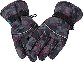 Lullaby Kids Thinsulate Cotton Kids Windproof Waterproof Snow Ski Gloves