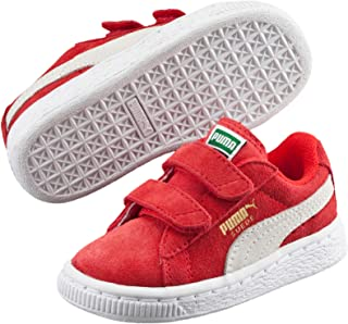 PUMA Baby Boys Suede 2 Straps INF Sneakers, High Risk Red-White
