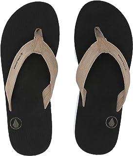 Volcom Mens V0811888 Men's Driftin Suede Strap Leather Flip Flop Sandal