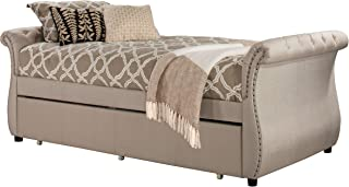 Hillsdale Furniture Hunter Backless Daybed with Trundle Twin Linen Sandstone