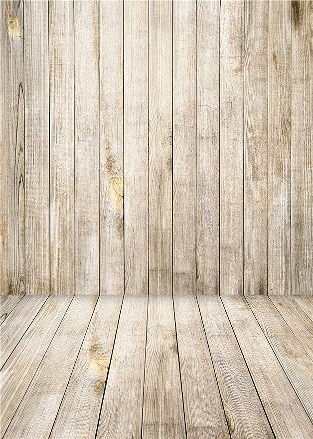 GoEoo Scenic Background for Baby Photo Studio Props Vinyl Children Photography Backdrops Wooden Floor 7x5FT QX009