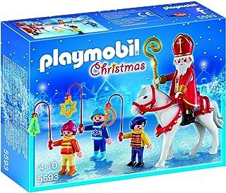 PLAYMOBIL - Christmas San Martín con Niños Playsets de