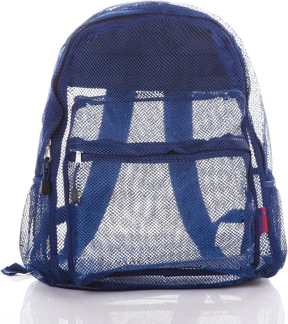 Bravo Mesh Backpack Transparent See Through Color San Jose Mall 16