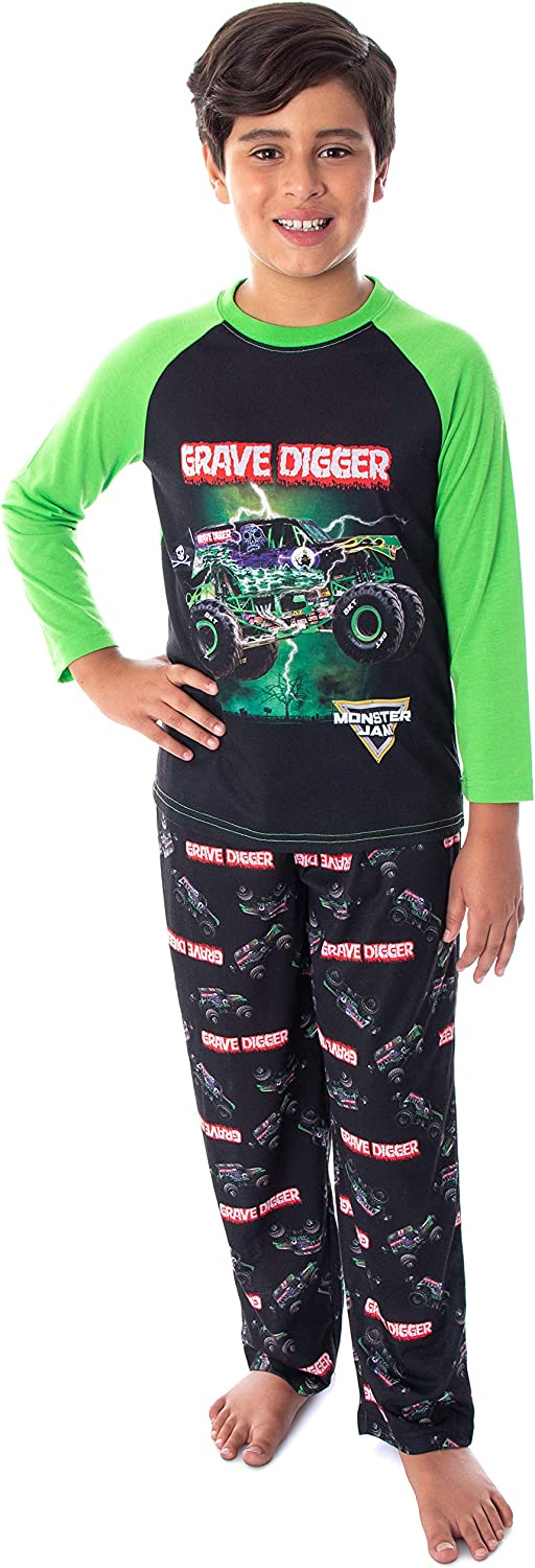 Monster Jam Boys' Grave Digger And Limited time Max 59% OFF trial price Raglan Shirt Pa Truck