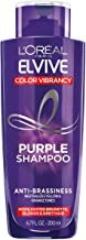 L'Oreal Paris Elvive Color Vibrancy Anti-Brassiness Purple Shampoo for Color Treated Hair, neutralizes Yellow & Orange Ton...