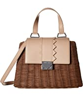 Emporio Armani - Rattan Leather Handbag