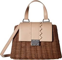 Rattan Leather Handbag