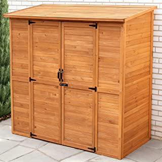 Leisure Season ELSS2003 Extra Large Outdoor Storage Shed - Brown - Wooden Gardening Lockers, Closet - Tool Organizer Cabin...