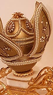 Luxury Ring box FABERGE Egg ONE OF A KIND Music Masterpiece 24k GOLD DESIGNER Faberge style Princess Carriage HAND CARVED ...