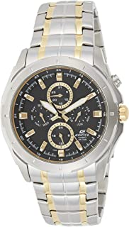 Casio Edifice Men's Black Dial Stainless Steel Band Watch - EF-328SG-1AV
