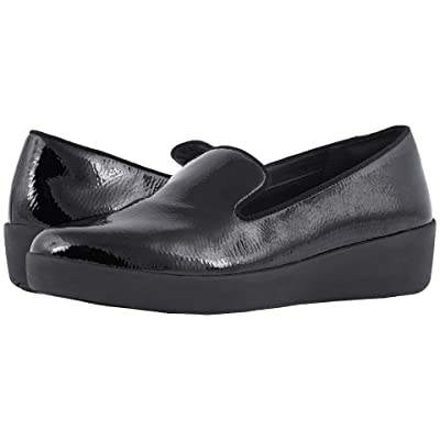 FitFlop Audrey Crinkle Patent Smoking Slippers (Black) Women