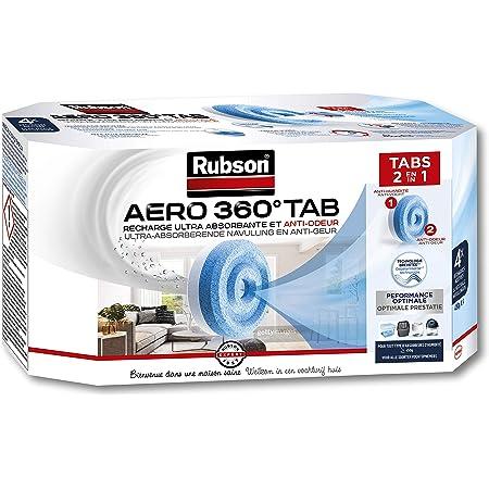 Rubson A/ÉRO 360/° Absorbeur dHumidit/é sp/écial Salle de Bain Absorbeur anti-humidit/é /& condensation D/éshumidificateur anti-odeur inclus 3 recharges neutres de 450 g