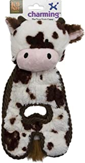 Charming Pet Cuddle Tugs Plush Dog Toy - Tough and Durable Interactive Soft Animal Squeaky Tug Toy