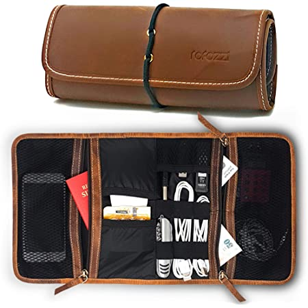 travel bag for chargers cables and adapters cord cable gear organizer electronics accessories organizer bag for cables earbuds holder Leather cable organizer Laptop cords