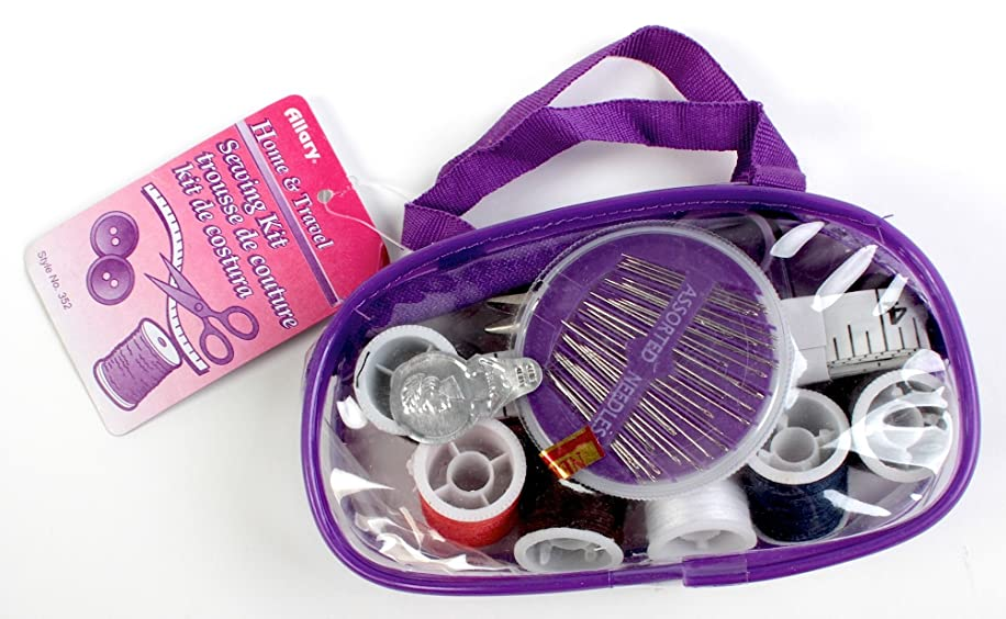 Allary Home & Travel Sewing Kit in zipper case, 3-Pack