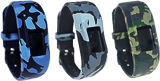 TenCloud for Garmin vivofit 3/vivofit JR. Tracker Replacement Soft Silicone Colorful Floral Pattern Bands [Fit Wrist 6.1in...