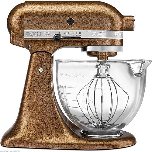 2021 KitchenAid Artisan discount Design high quality 5-Quart Stand Mixer, Antique Copper outlet sale