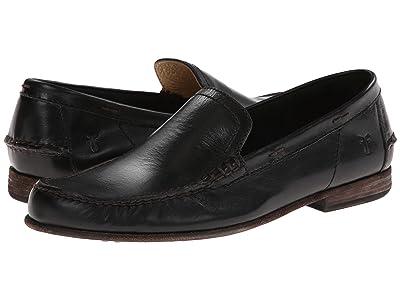 Frye Lewis Leather Venetian (Black Antique Pull Up) Men