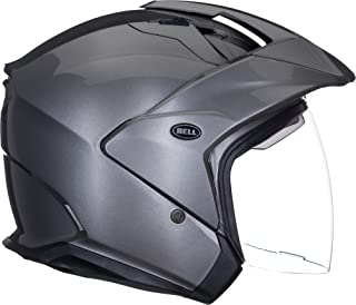 Bell Mag-9 Open Face Motorcycle Helmet (Solid Gloss Titanium, X-Large)