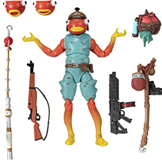 "Fortnite Legendary Series, Fishstick, 1 Figure Pack - 6"" Articulated Action Figure - Includes Harvesting Tool, 3 Weapons, 1 Back Bling, 3 Interchangeable Heads - Collect Them All"