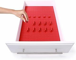 Kmn Home Drawerdecor 16-piece Customizable Drawer Organizer In Red