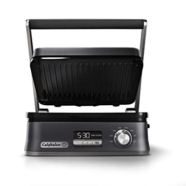 Calphalon Even Sear Indoor Electric Grill, Multi, Dark Stainless Steel