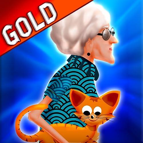 senhora louca do gato: o felino aventura engraçada voando - Edição de ouro