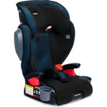 Britax Highpoint 2-Stage Belt-Positioning Booster Cool Flow Ventilating Fabric Car Seat - Highback and Backless | 3 Layer Impact Protection - 40 to 120 Pounds, Teal