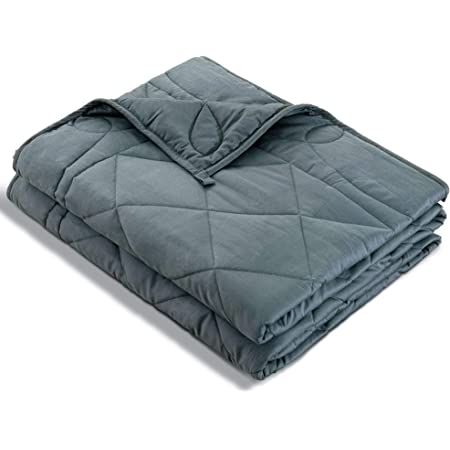 """HAPPY LIVING Weighted Blankets, 48""""x72"""" 10lbs Weighted Blanket for Kids Adult, 100% Oeko-Tex Certified Cotton Material Cooling Weighted Blanket with Premium Glass Beads"""