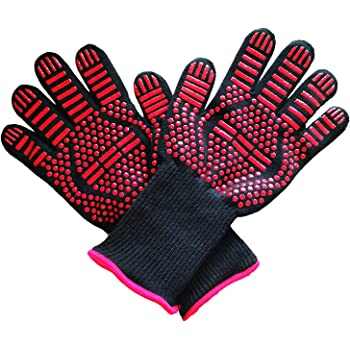 Fireplace BBQ Gloves /& Oven Mitts for Cooking Regular Cuff Kitchen 1 Pair JH Heat Resistant Oven Gloves:EN407 Certified Withstand 932 /°F Grilling Double Layers Silicone Coating