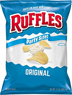 Ruffles Potato Chips Original Party Size Bag 13 Ounce