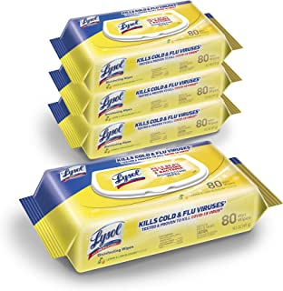 Lysol Disinfectant Handi-Pack Wipes, Multi-Surface Antibacterial Cleaning Wipes, For Disinfecting and Cleaning, Lemon and ...