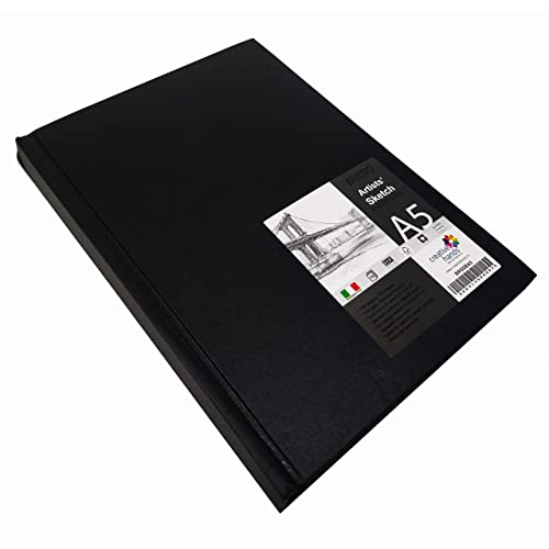 BRUSTRO Stitched Bound Artists Sketch Book, A5 Size, 156 Pages, 110GSM