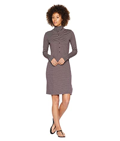 NAU Long Sleeve Kanab HW Dress (Plum Stripe) Women