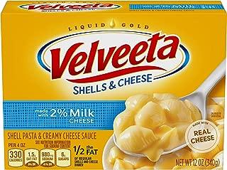 Velveeta Shells & Cheese with Milk (12 oz Boxes, Pack of 12)