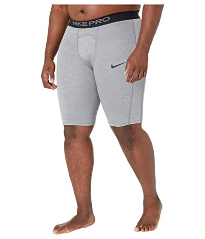 Nike Big Tall Pro Shorts Long (Smoke Grey/Light Smoke Grey/Black) Men