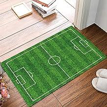 Entrance Way Door Mats Bath Mats Welcome Rugs Football Field Green Grass Design Printed..